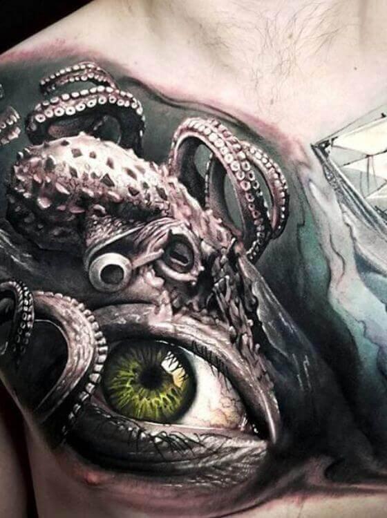 Realistic Octopus Tattoo photo