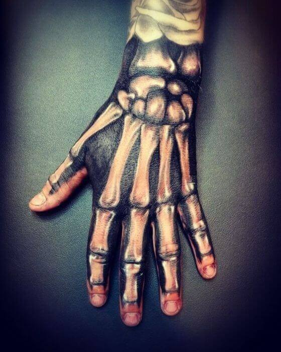 Skeleton Hand Tattoo with Beads