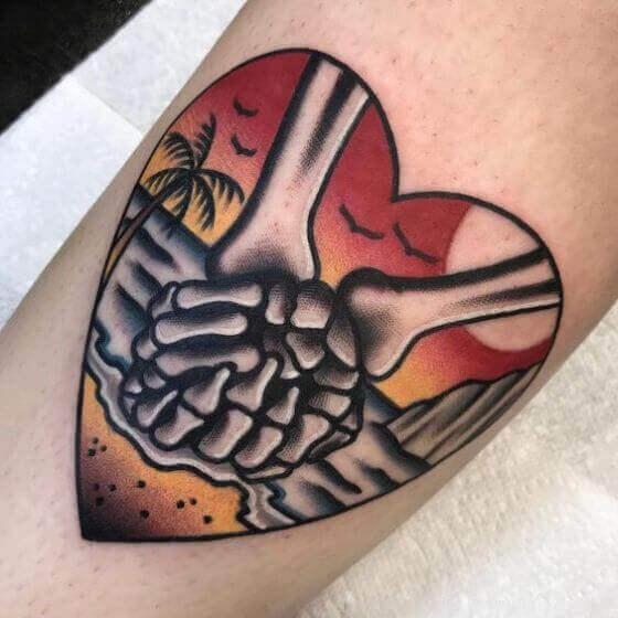 Traditional Skeleton Hand Tattoo ideas