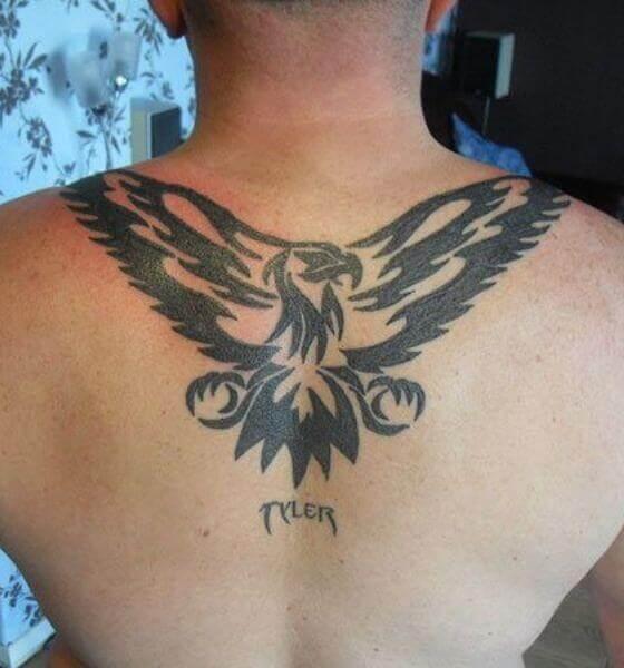 Eagle Tattoo on the back design