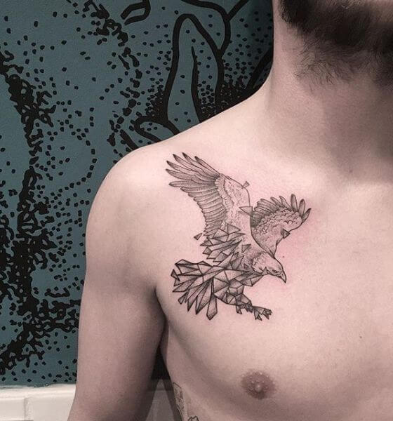 Eagle Tattoo on the chest Design