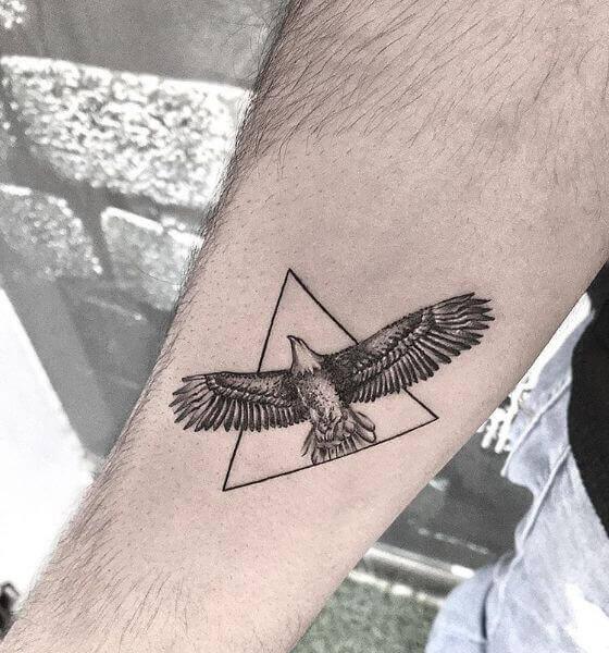 Eagle Tattoo on the forearm
