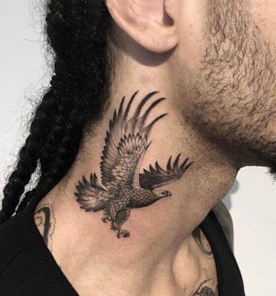 Eagle Tattoo on the neck
