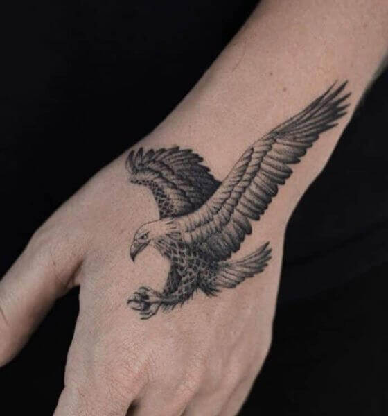 Eagle Tattoo on the wrist 4
