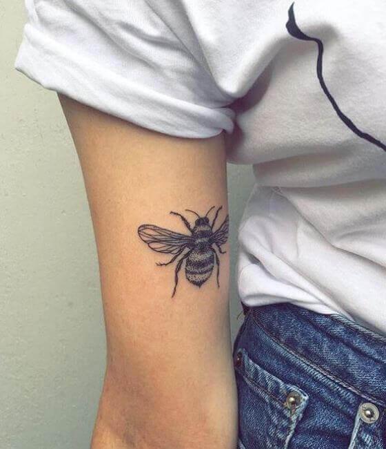 Small Honey bee tattoo on the arm