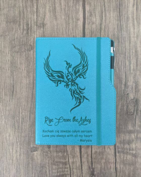 Laser Engraved Phoenix Journal with Custom Quote