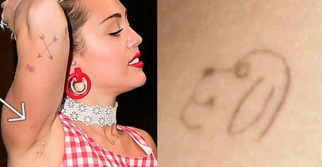 Miley Cyrus — Dog Tattoos