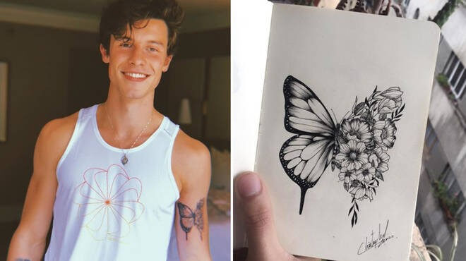 Shawn Mendes – Butterfly Tattoo