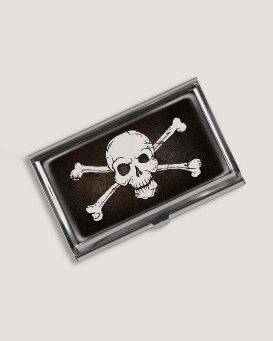 Skull and Crossbones Business Card Holder