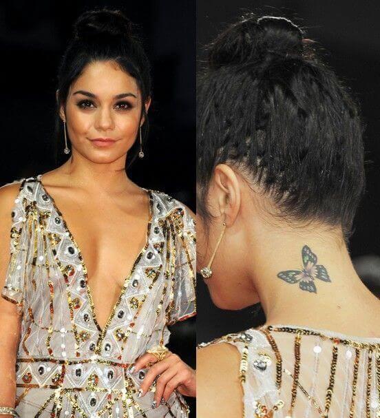 Vanessa Hudgens - Butterfly Tattoo