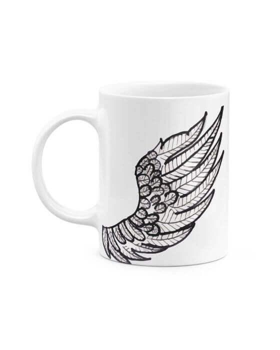 White Ceramic Tattoo Mug