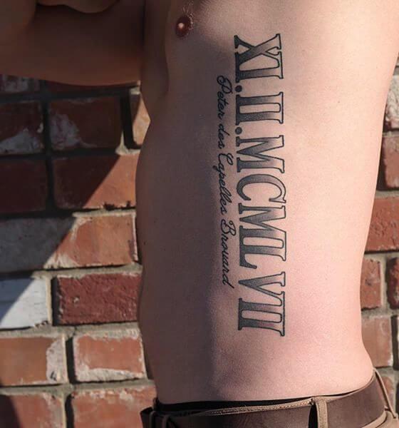 Roman Tribunal Numeral Tattoo