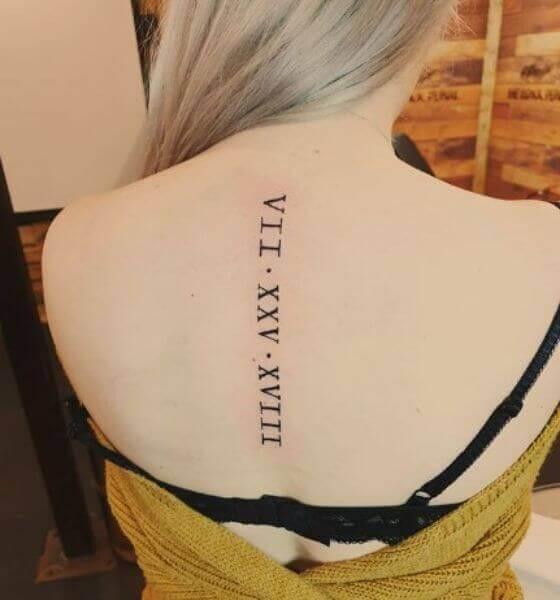 Roman Numeral Back Tattoo Ideas