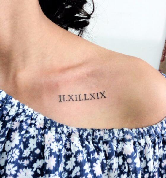 Roman Numerals Tattoo ideas on chest