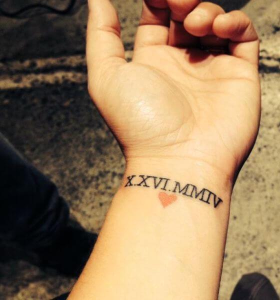 lovely Roman Numerals Tattoo ideas on wrist