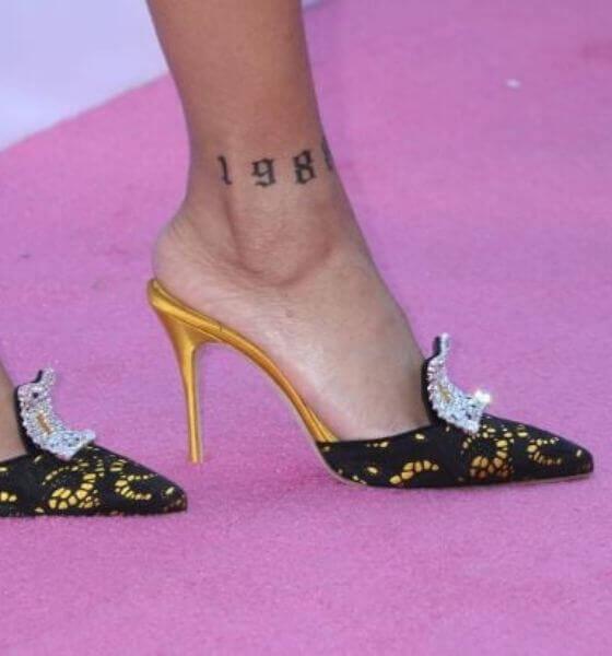 Rihanna's ankle tattoo