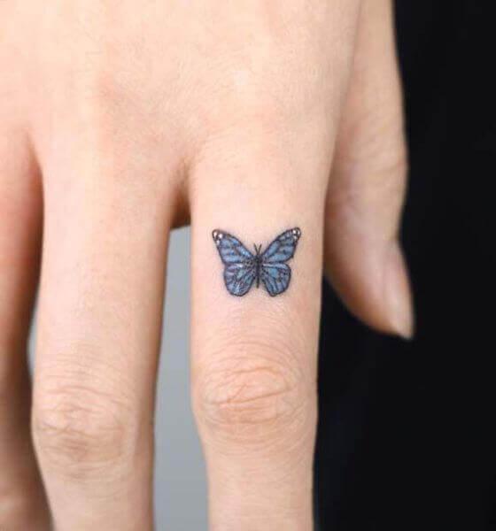 Butterfly Finger Tattoo for Women