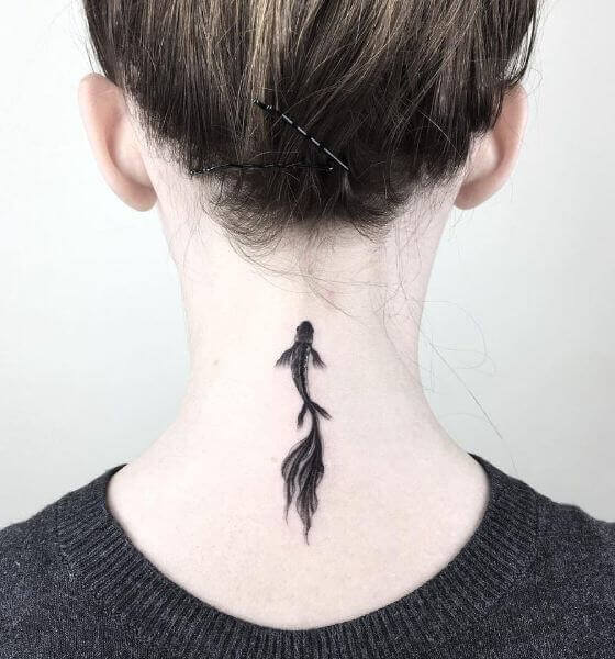 Fish neck tattoo