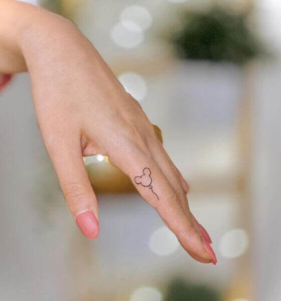 Mickey Finger Tattoo Ideas