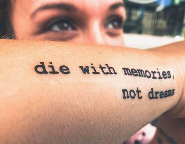 Quote tattoo significance in your life