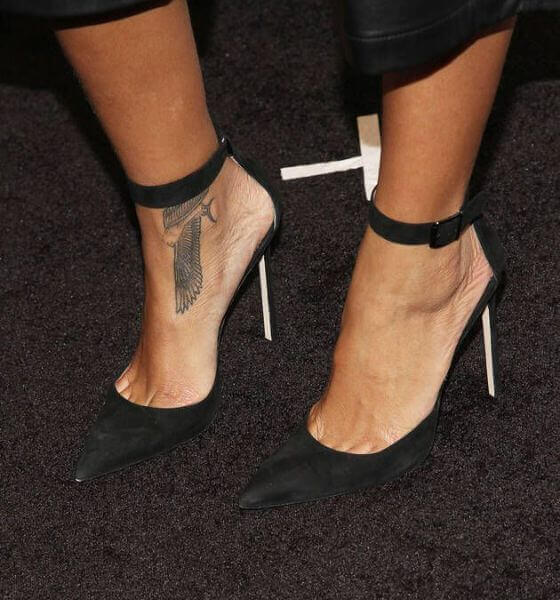 Rihanna's Falcon tattoo on her ankle