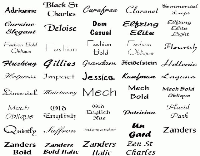 Types of font for tattoo