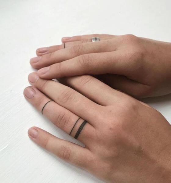 finger band tattoo ideas for women