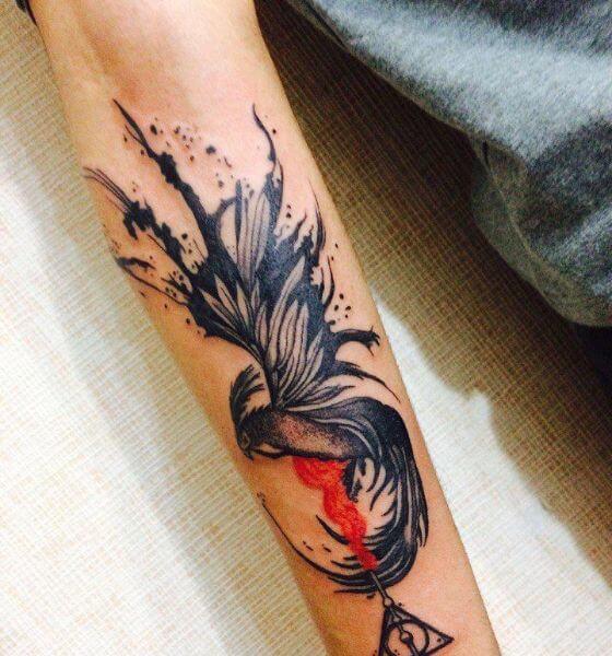 Attractive Phoenix Tattoo Design