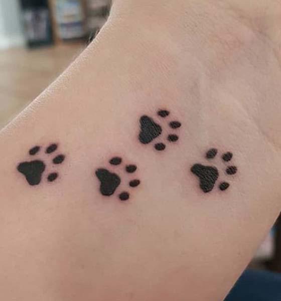 Bear Paw Print Tattoo