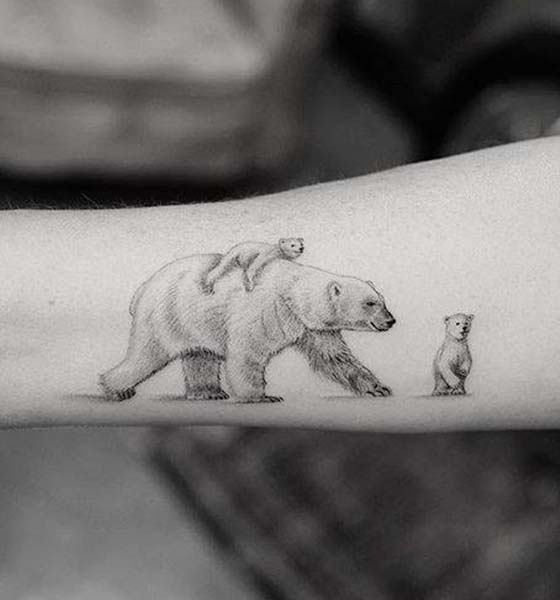 Bear with Cub Tattoo