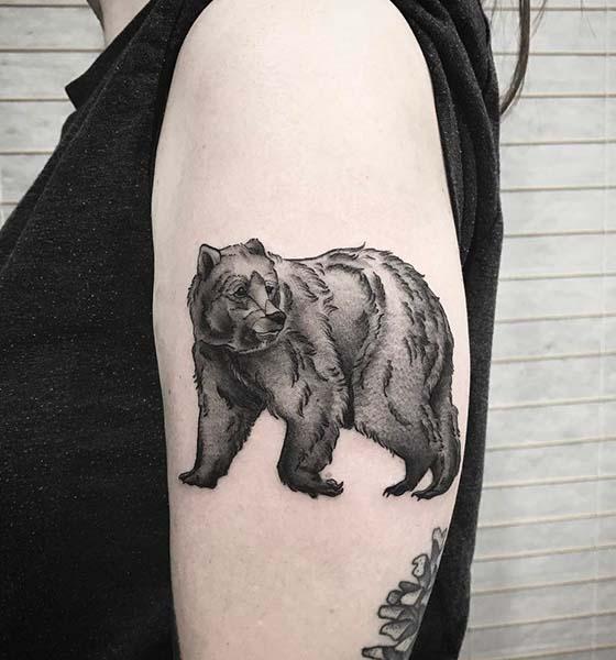 Black Bear Tattoo Ideas