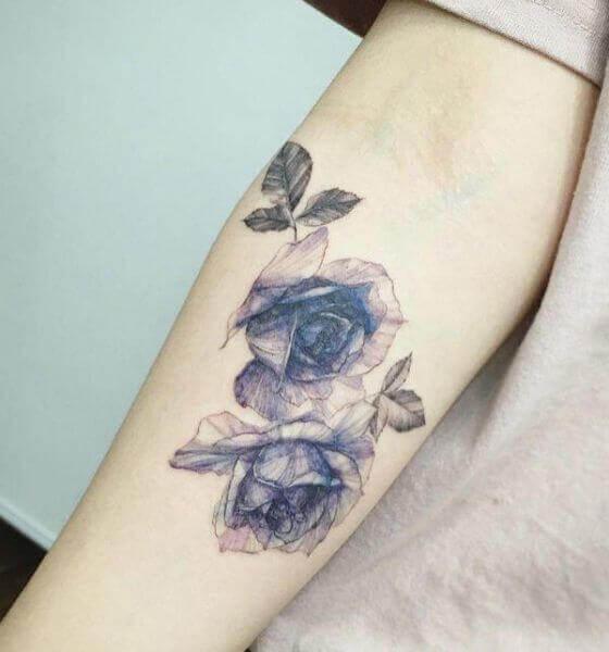 Blue rose tattoo ideas