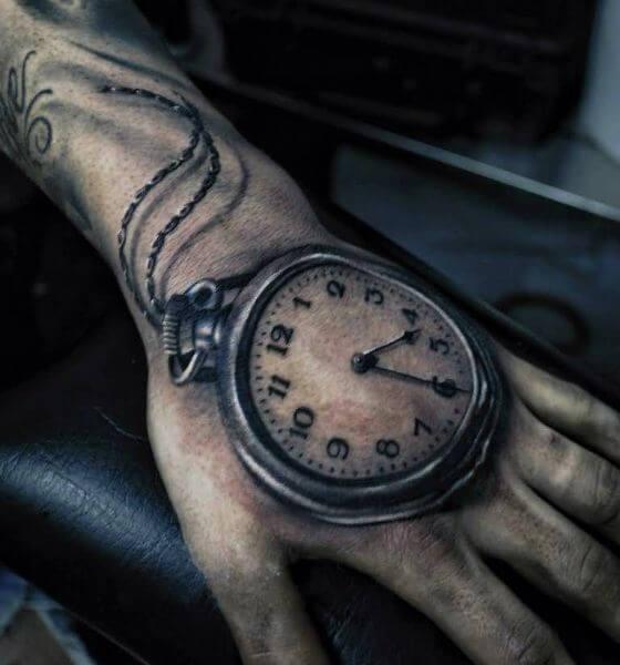 Compass Clock Tattoo Placement Ideas