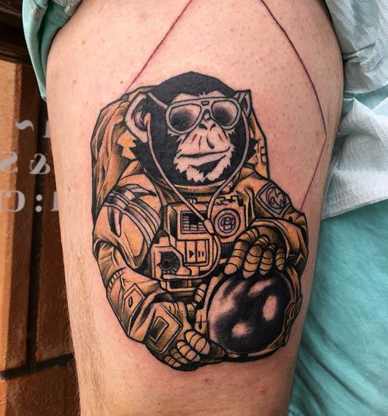 Custom Space tattoos