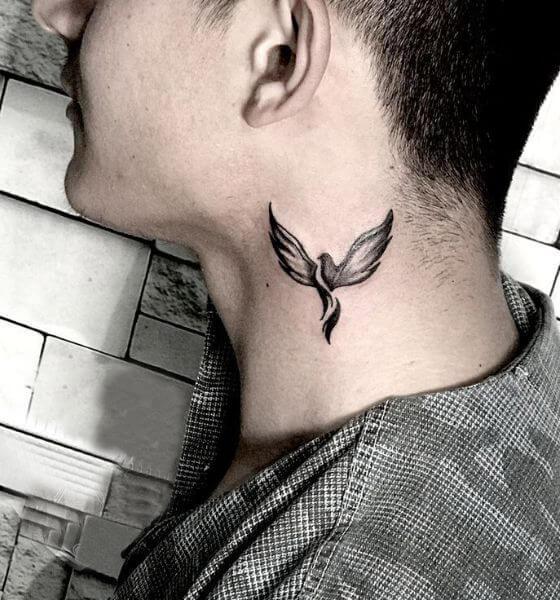 Cute Phoenix Tattoo for Men