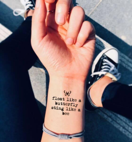 Beautiful Quote Tattoo Ideas on Wrist