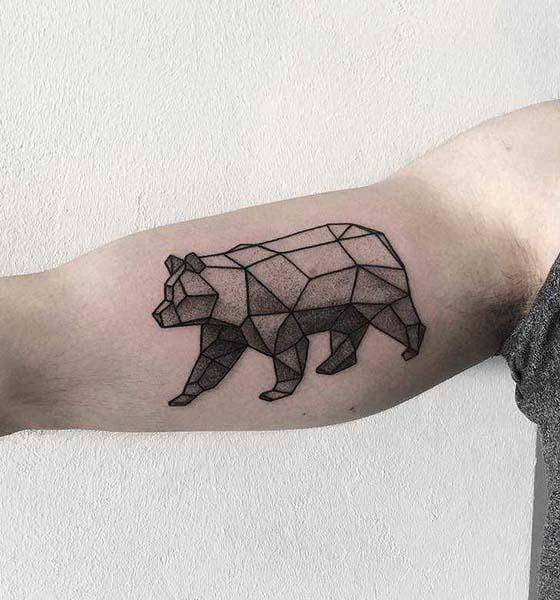 Geometric Bear Tattoo Idea