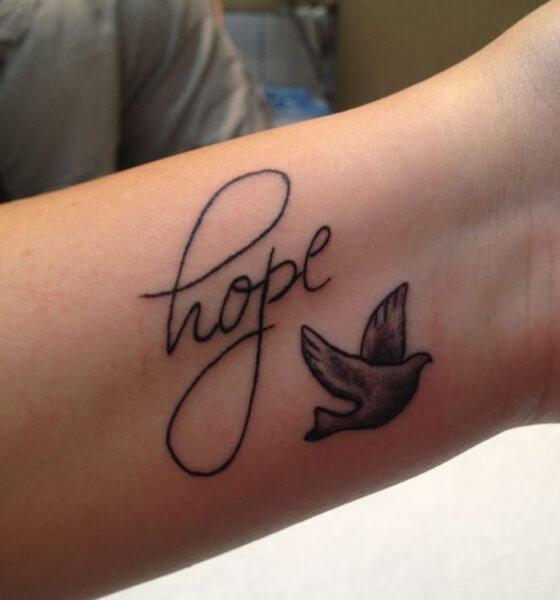 Hope and bird tattoo designs