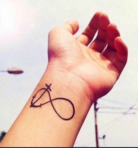 Infinity Tattoo with Cross