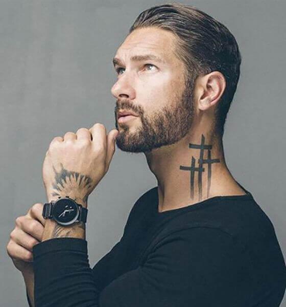 Intertwined Three Crosses Tattoo