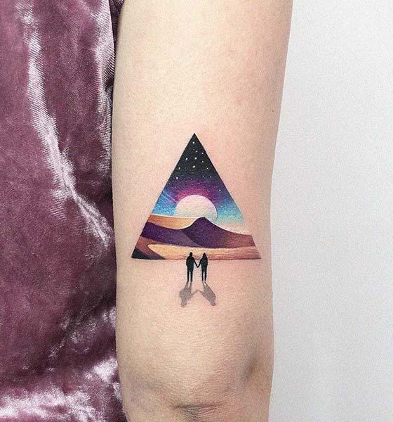 Landscape Space tattoo