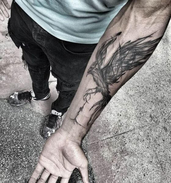 Phoenix Tattoo Idea for Men