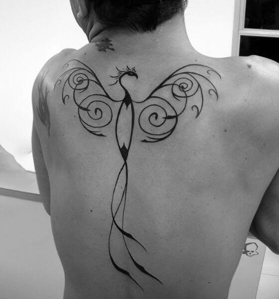 Simple Phoenix Tattoo