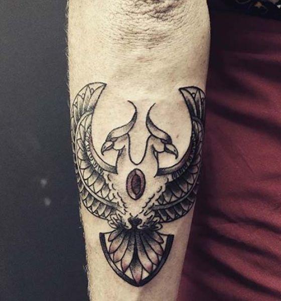 Phoenix Love Tattoo Design