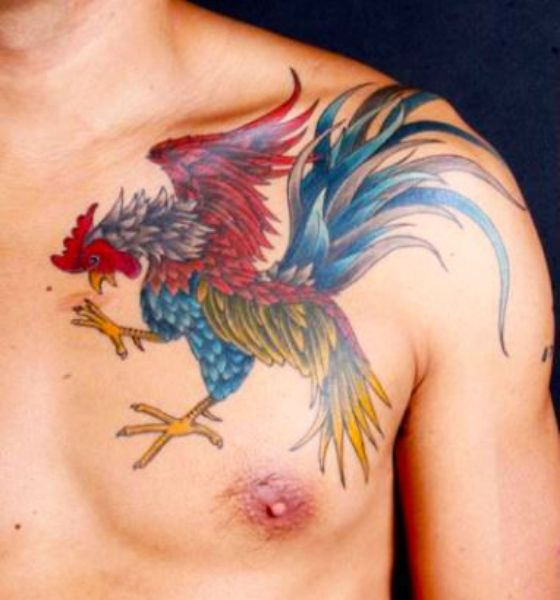 Rooster Phoenix Tattoo Design