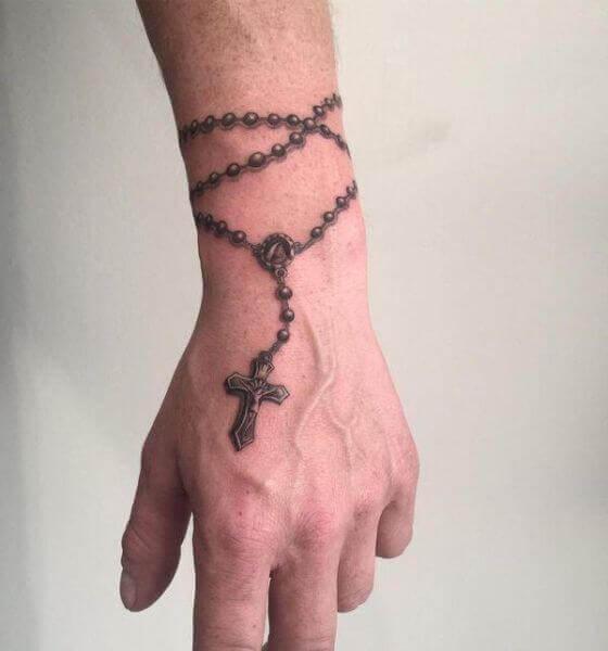 Rosary Beads Faith Tattoo Design