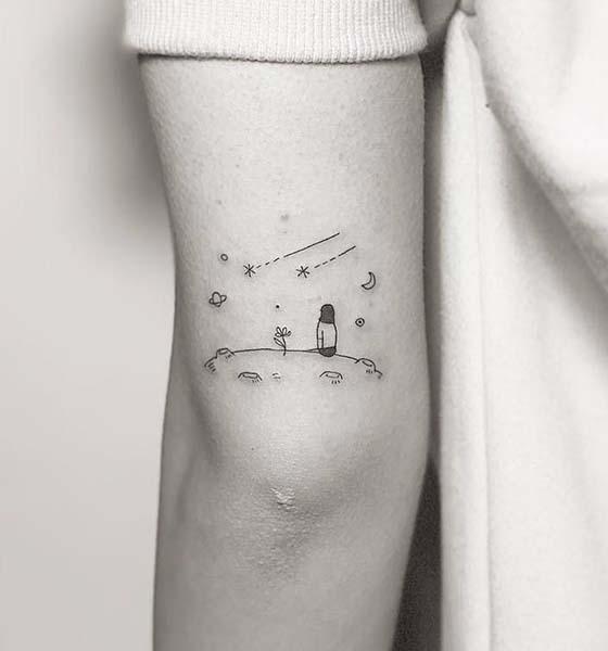 Simple space tattoo ideas