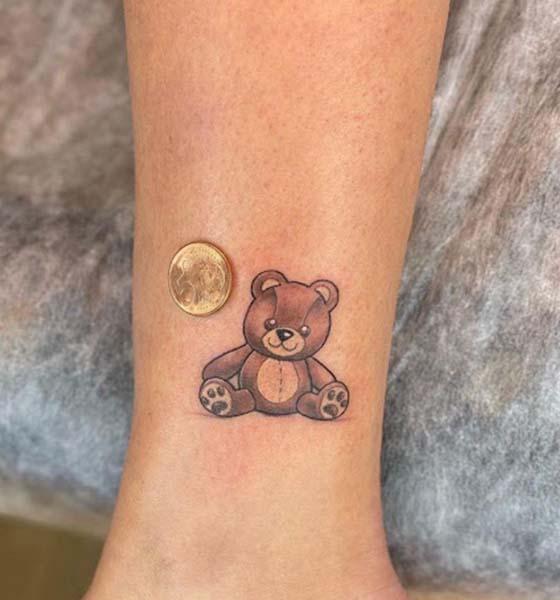 Teddy Bear Tattoo on Wrist