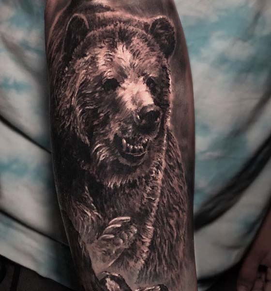 The Grizzly Bear Tattoo on Hand