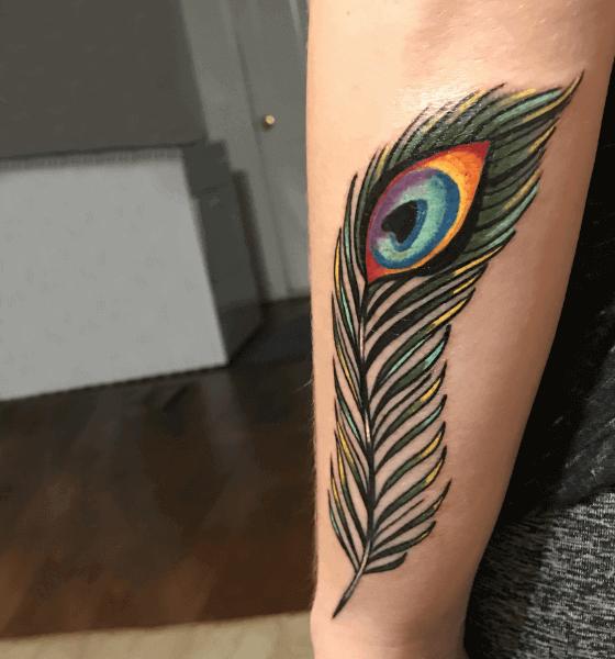 Peacock Feather Tattoo Design